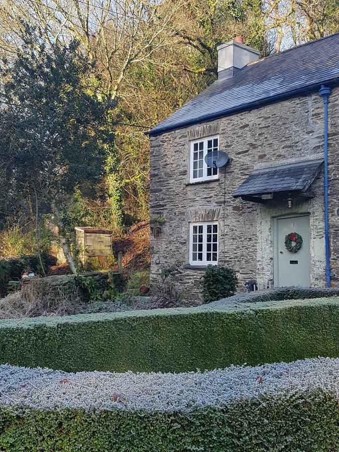Frosterna av jul i Devon royaltyfria bilder