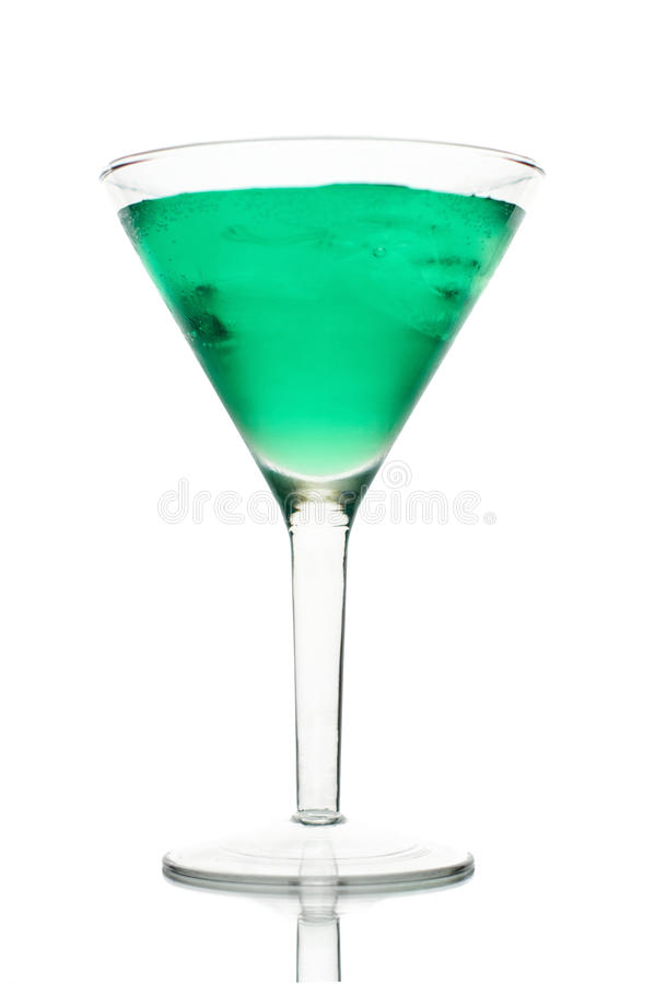 frostig glass grön is martini arkivfoto