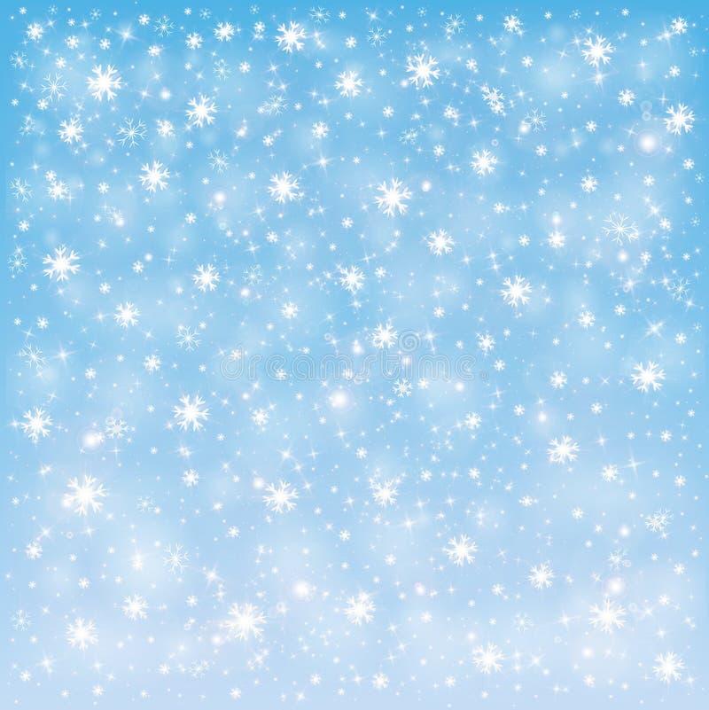 Frostig snöbakgrund för vinter vektor illustrationer