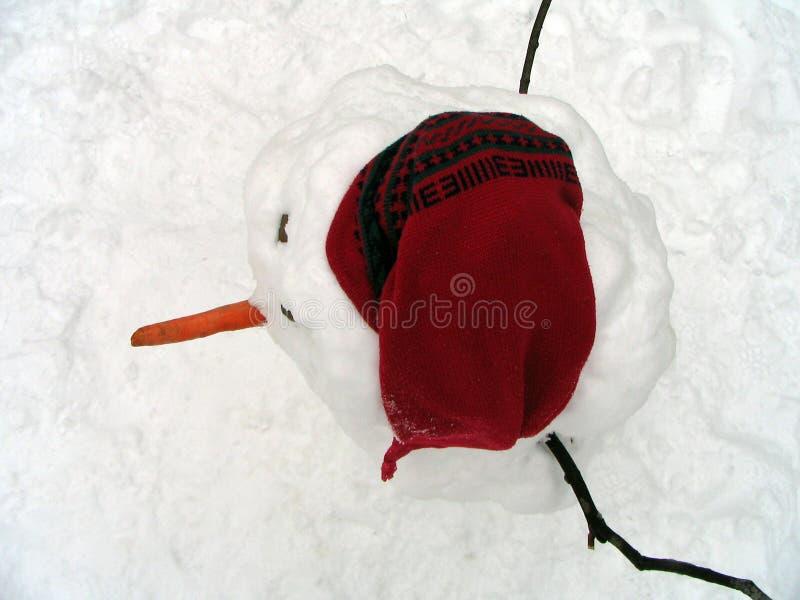 frostig snowman arkivfoton