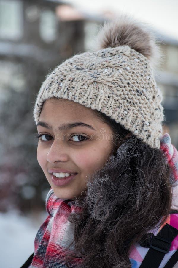 Frostigt hår för frostig morgon royaltyfria foton