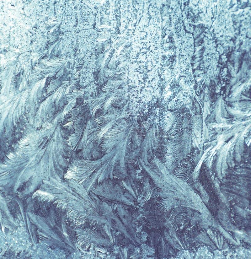 Frostwork Διακοσμητικά κρύσταλλα πάγου σε ένα παράθυρο στοκ εικόνα με δικαίωμα ελεύθερης χρήσης