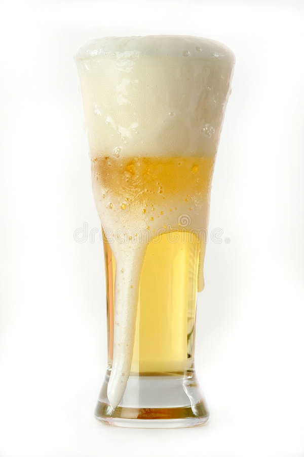 Frosty Beer stock image