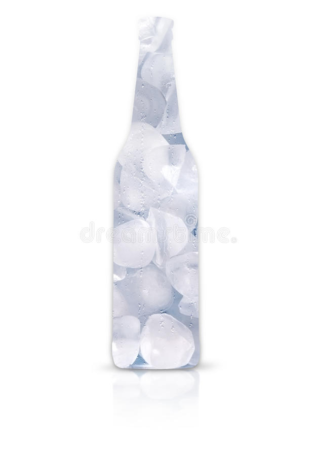 Download Frosty Beer Bottle Full Of Ice Stock Photo - Image: 26672406