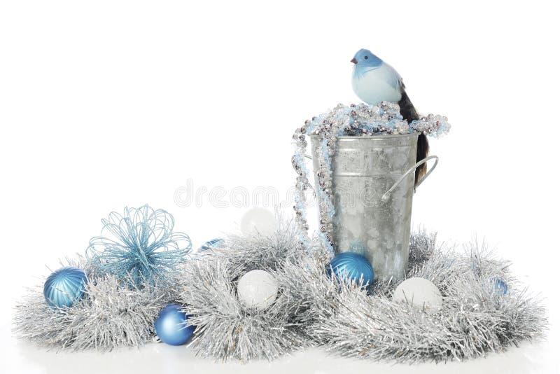 Frosty Blues ed argento fotografia stock