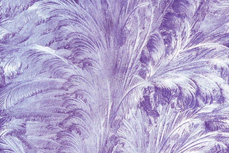 Frosty Glass Ice Background Ultra Violet And White Colors vorst royalty-vrije stock foto