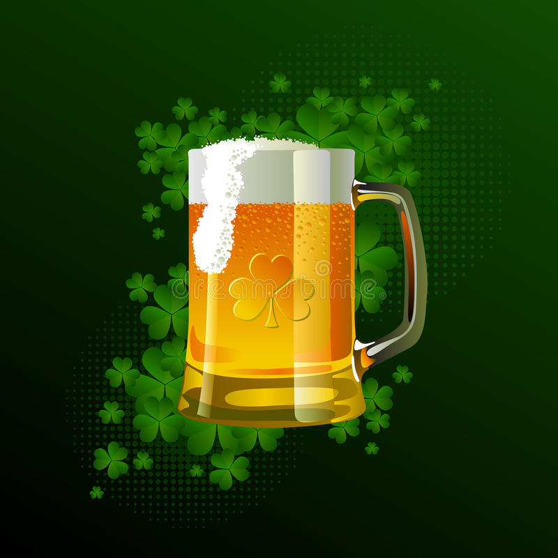 Download Frosty Glass Of Light Beer For St Patrick's Day Stock Vector - Illustration: 18621878