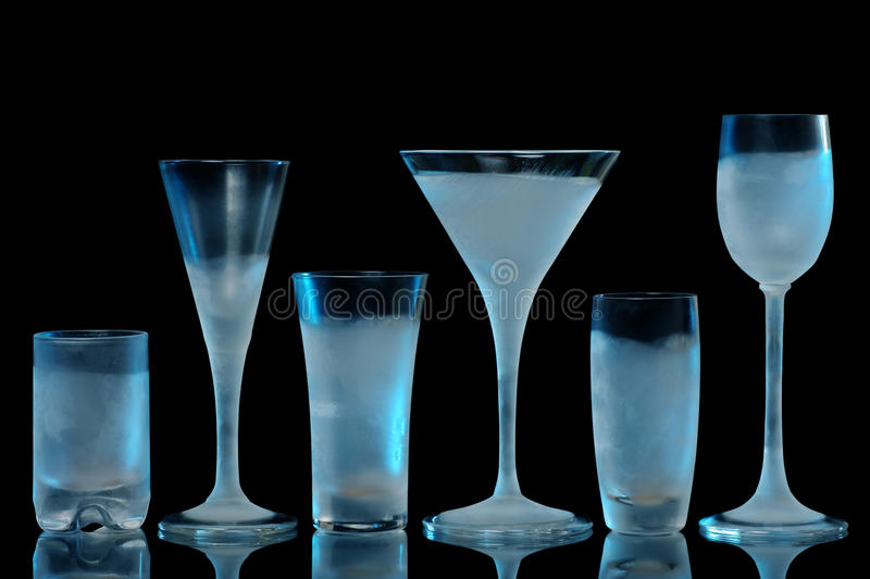 Download Frosty glasses stock photo. Image of glass, line, frosted - 21670830