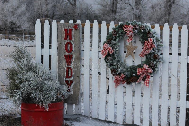 Frosty Howdy Christmas royaltyfria bilder