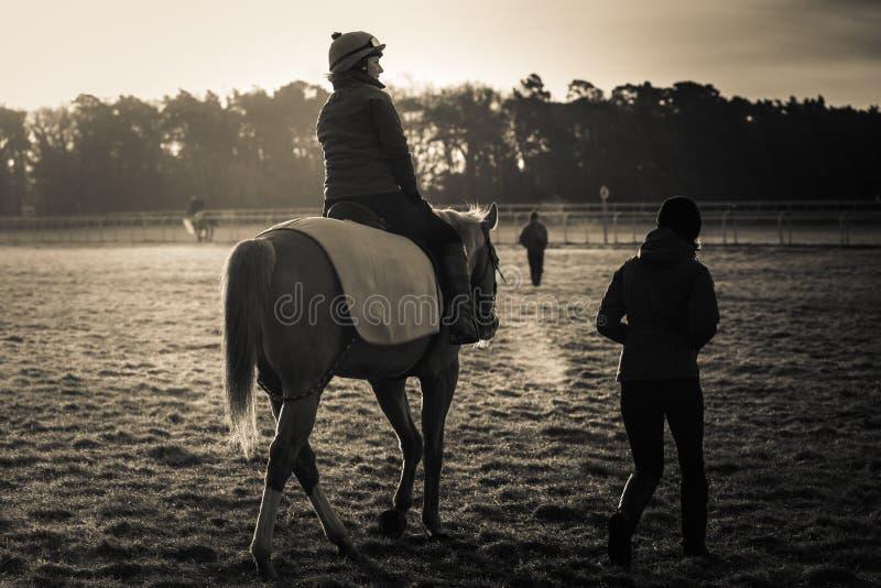 Frosty Morning At de Onderbreking van Dawn stock fotografie