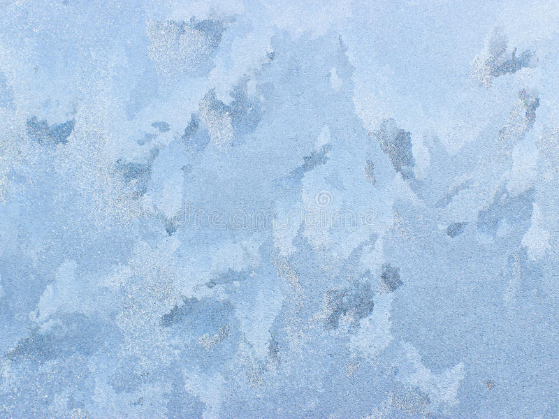 Frosty natural pattern on winter window. royalty free stock photography