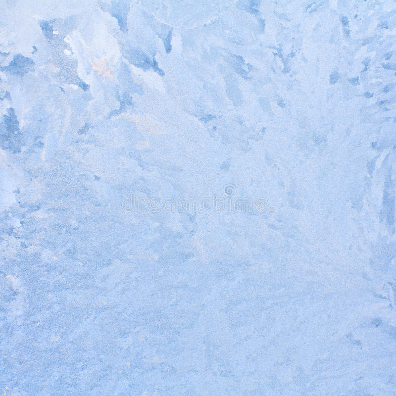 Frosty natural pattern on winter window. royalty free stock images