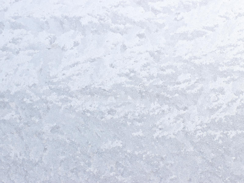 Frosty natural pattern on winter window. stock images