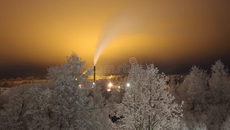 Frosty night royalty free stock photography