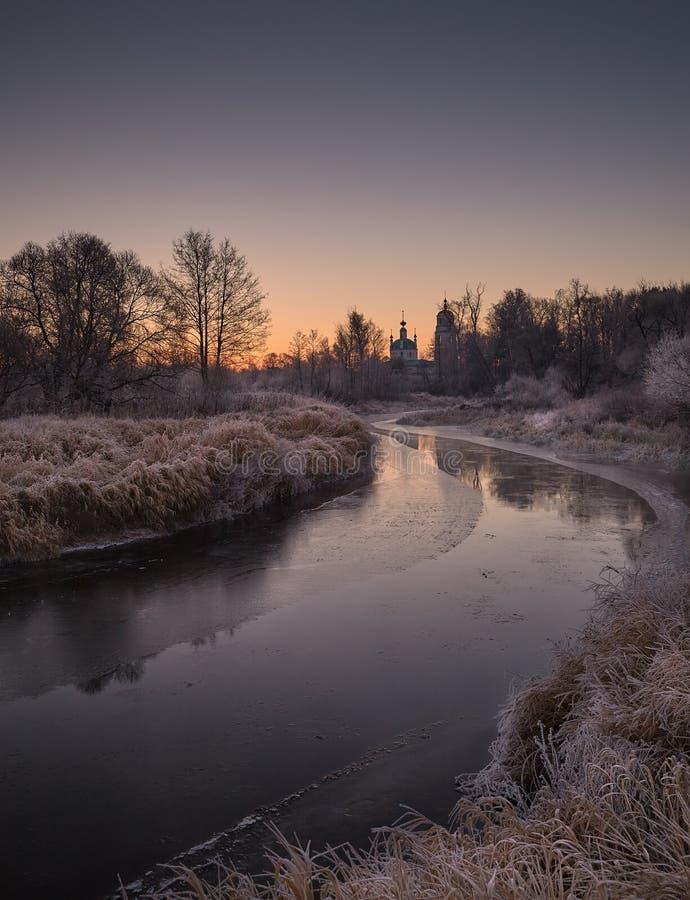 Frosty November morning royalty free stock images