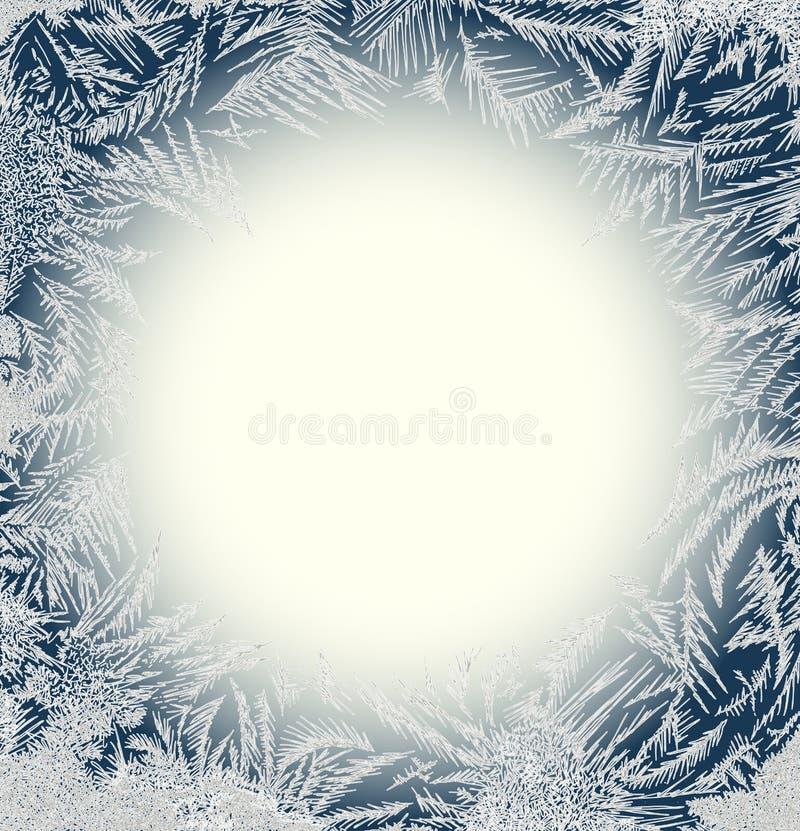 Frosty Pattern Frame. vector illustration