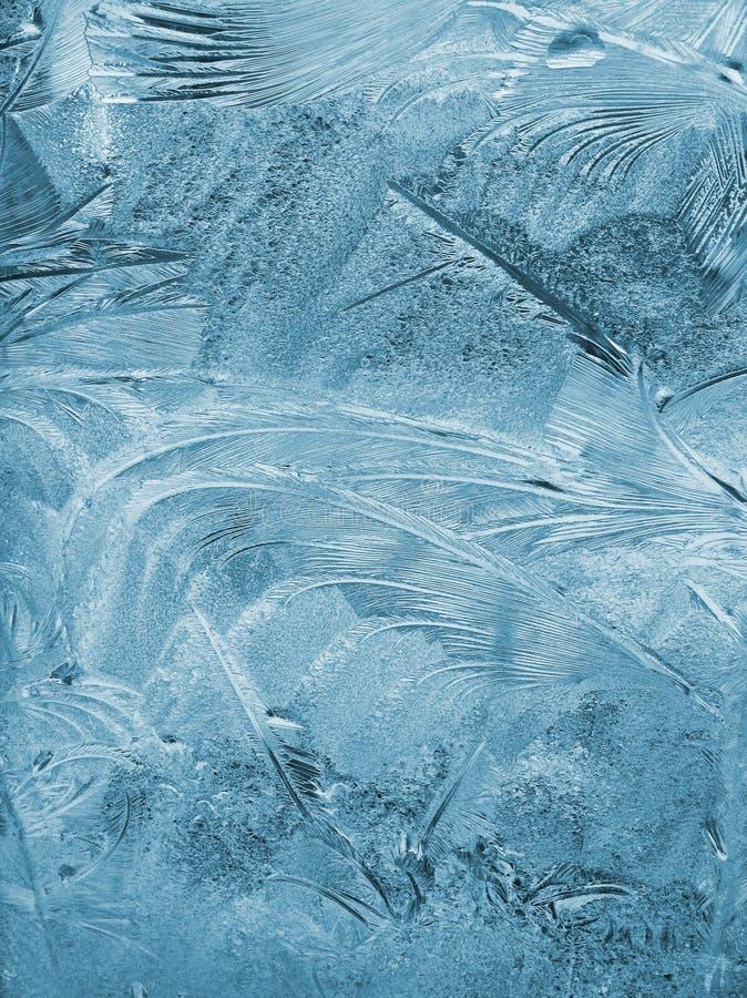 Frosty pattern on pane royalty free stock photos