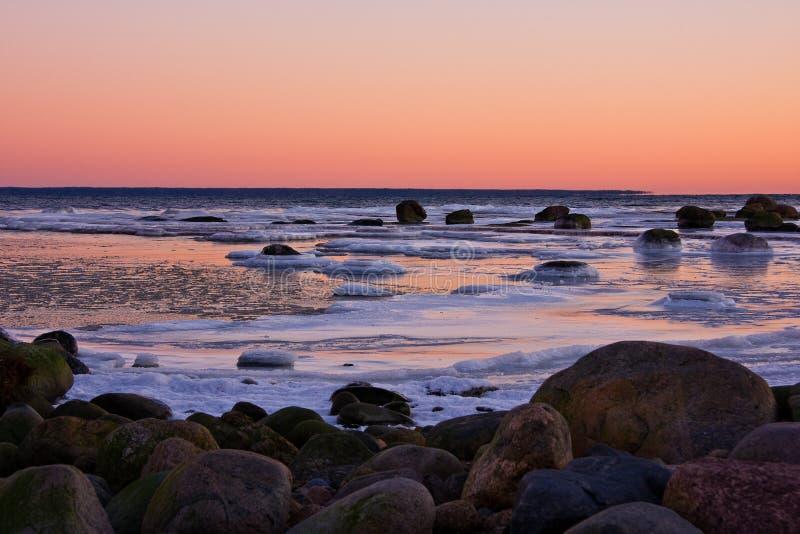 Frosty sea stock photo