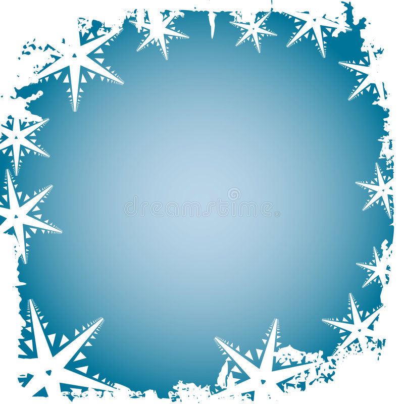 Frosty snowflakes vector illustration