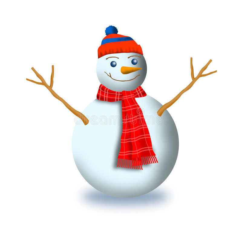 Download Frosty the snowman stock illustration. Illustration of hand - 3727251