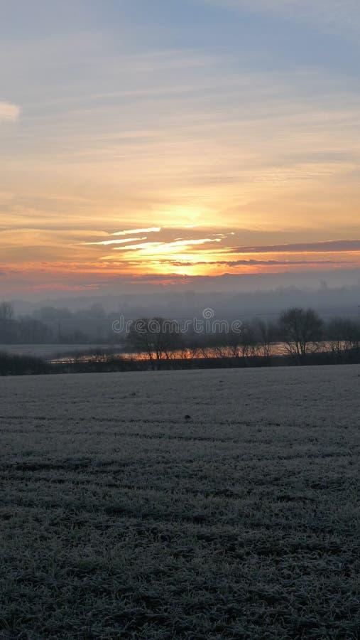 Frosty Start al giorno fotografia stock