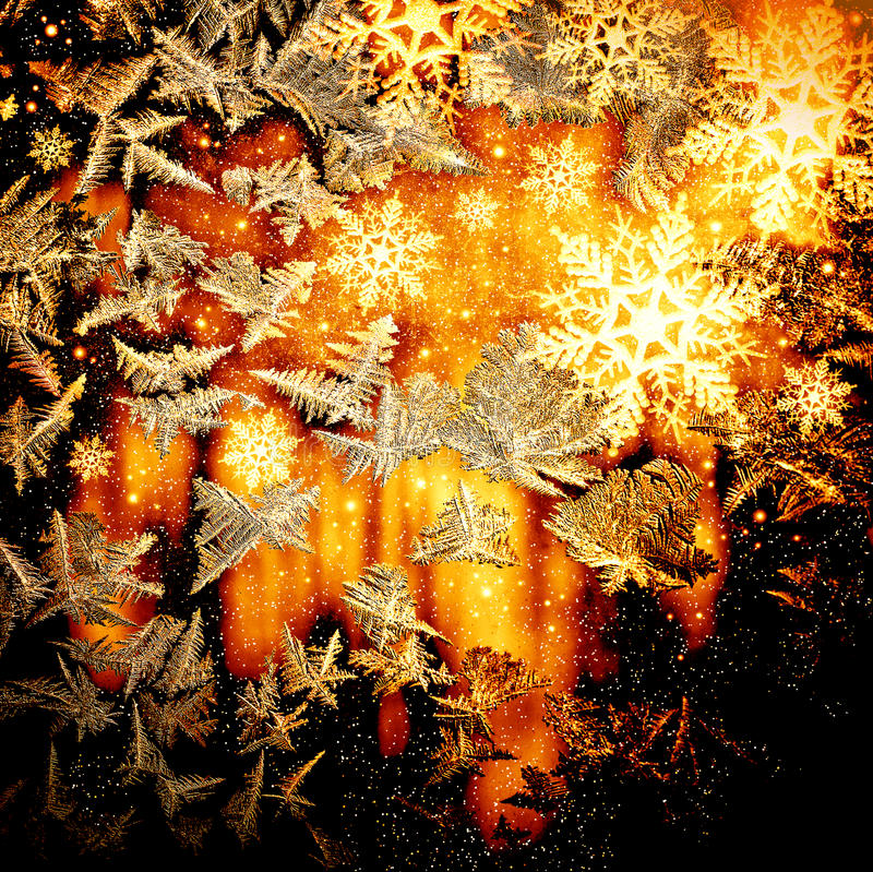 frosty szklany naturalne schematu royalty ilustracja