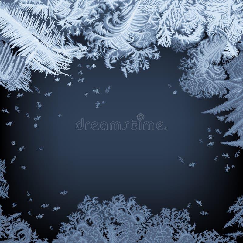 Frosty Window - fondo stock de ilustración