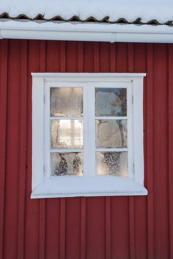 Frosty window stock photos