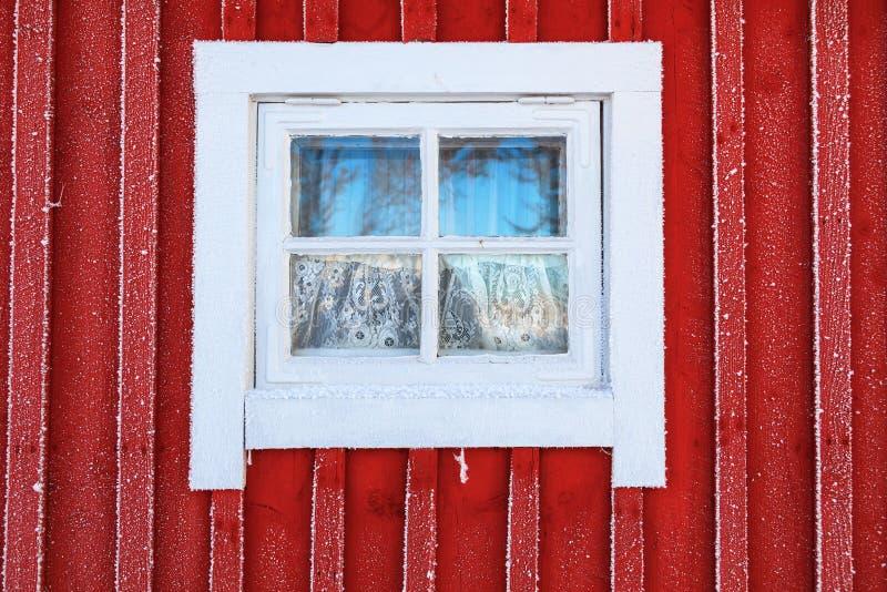 Frosty window stock image