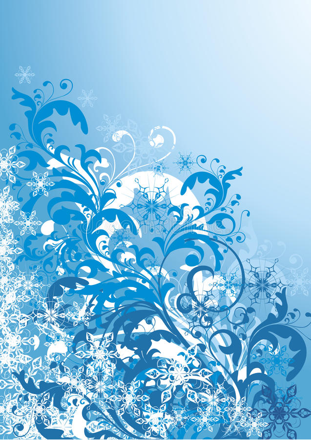 Download Frosty winter illustration stock vector. Image of shape - 13390771