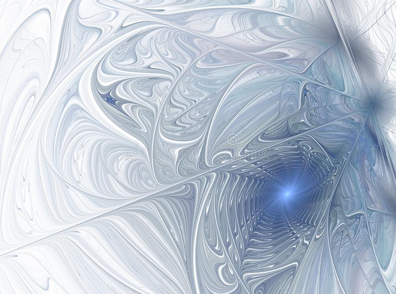 Frosty winter pattern. Abstract Form stock illustration