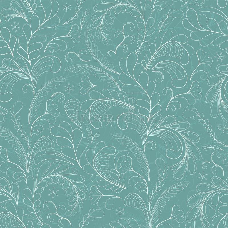 Frosty winter pattern. royalty free illustration