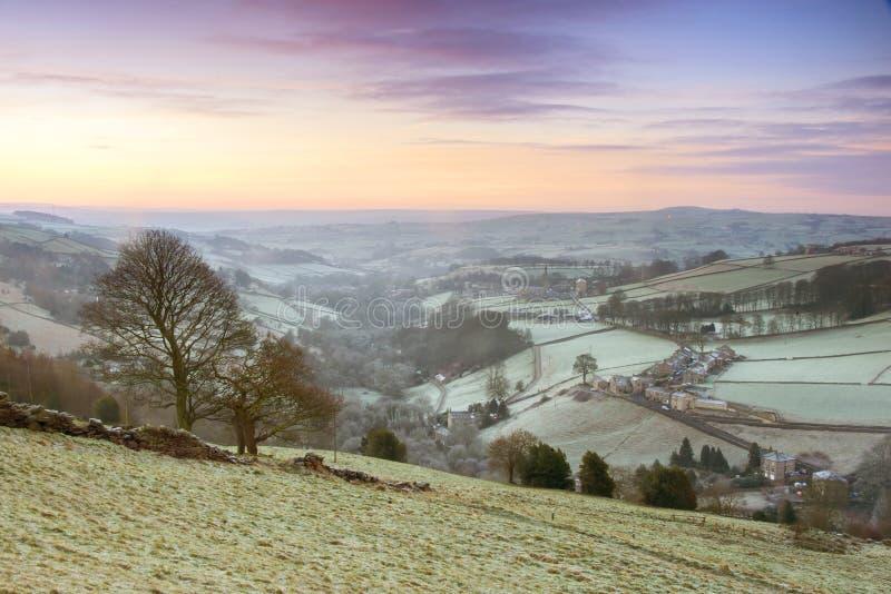 Frosty Yorkshire Winter Landscape lizenzfreies stockbild