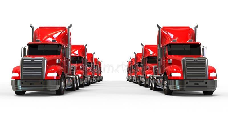 Frota de caminhão americana ilustração royalty free