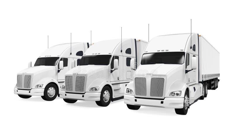 Frota de caminhões ilustração do vetor