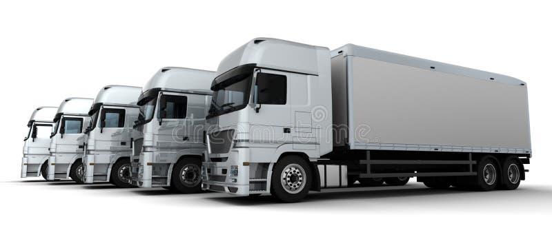Frota de veículos de entrega ilustração stock