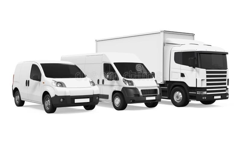 Frota de veículos de entrega ilustração royalty free