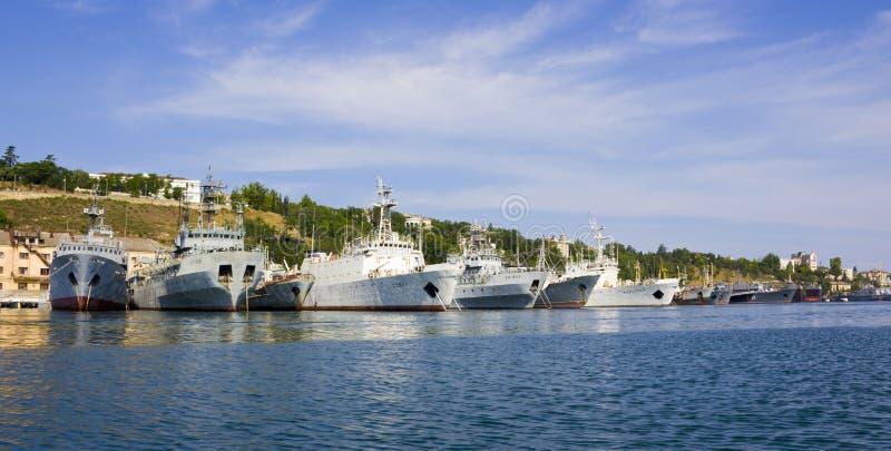 Frota do Mar Negro do russo fotografia de stock royalty free