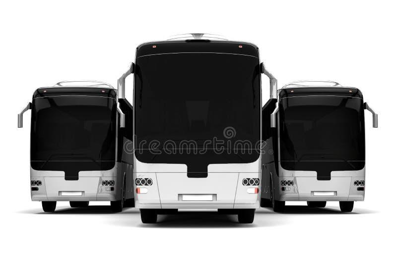 Frota do ônibus ilustração do vetor