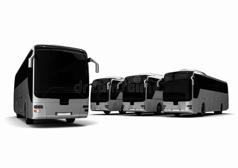 Frota do ônibus ilustração royalty free