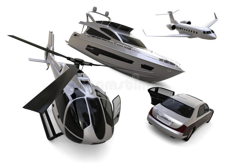 Frota do transporte ilustração do vetor