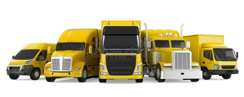 Frota do transporte do frete ilustração royalty free