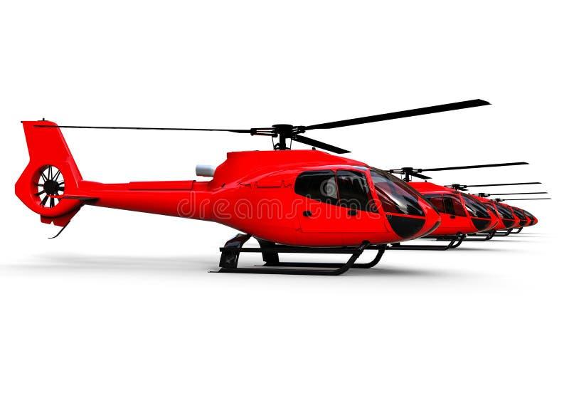 Frota dos helicópteros ilustração do vetor