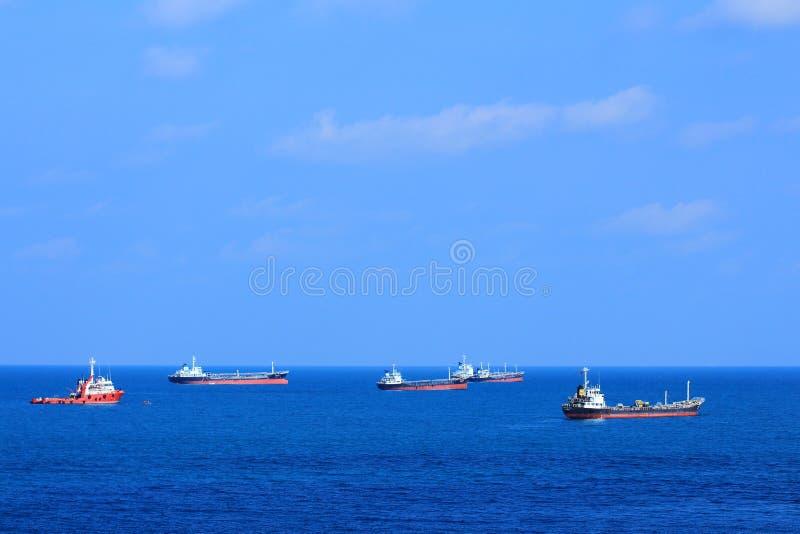 Frota dos navios imagem de stock royalty free