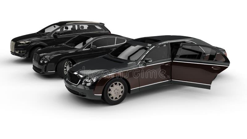 Frota luxuosa do carro ilustração royalty free