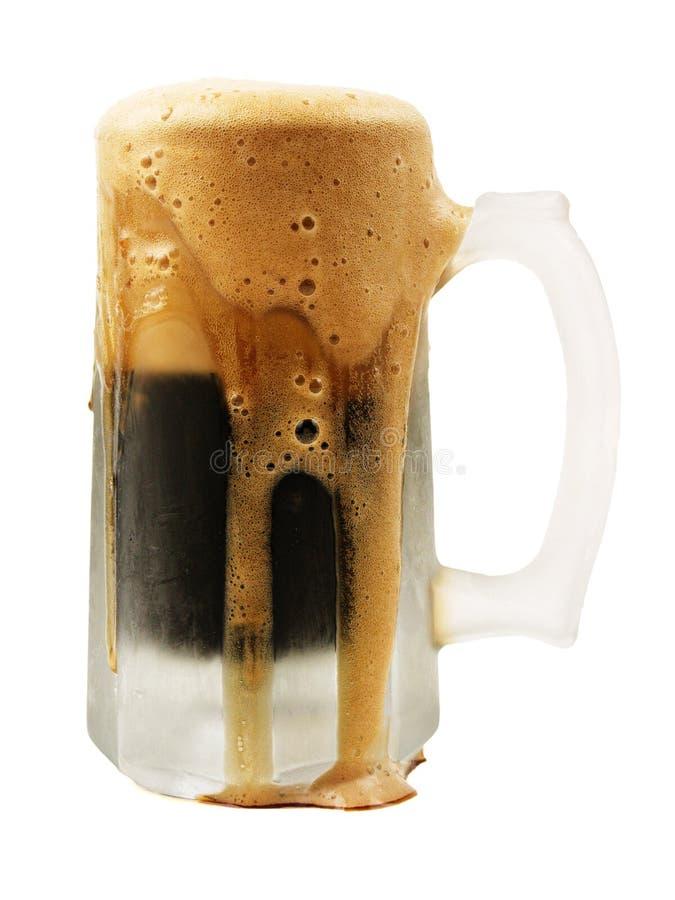 frothy öl arkivfoton