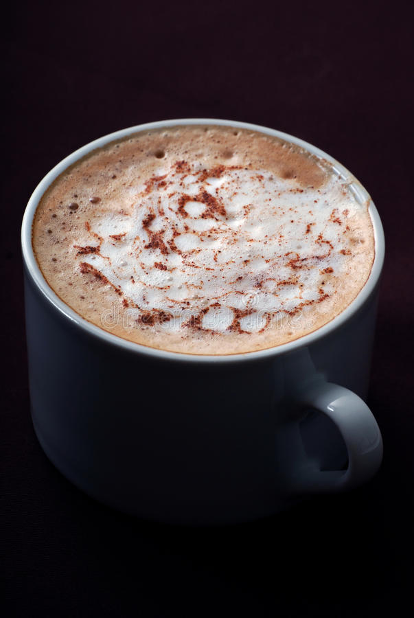 Frothy latte royalty free stock images