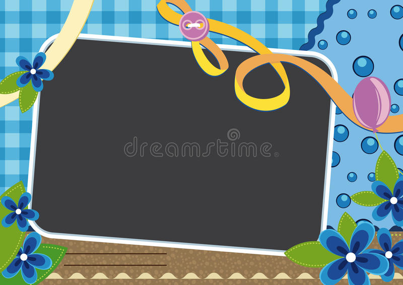 frower рамки младенца иллюстрация вектора