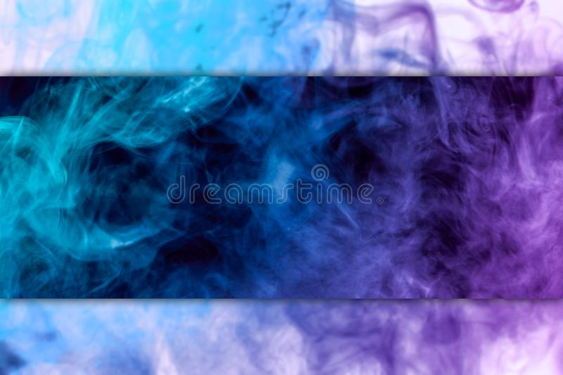 Frozen abstract movement of explosion pink and blue smoke royalty free stock photos