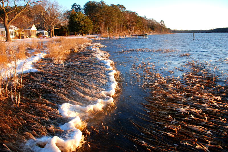 Frozen Bay stock photos
